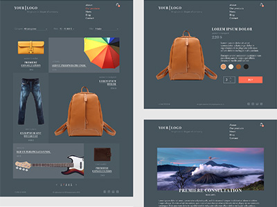 Free psd store template