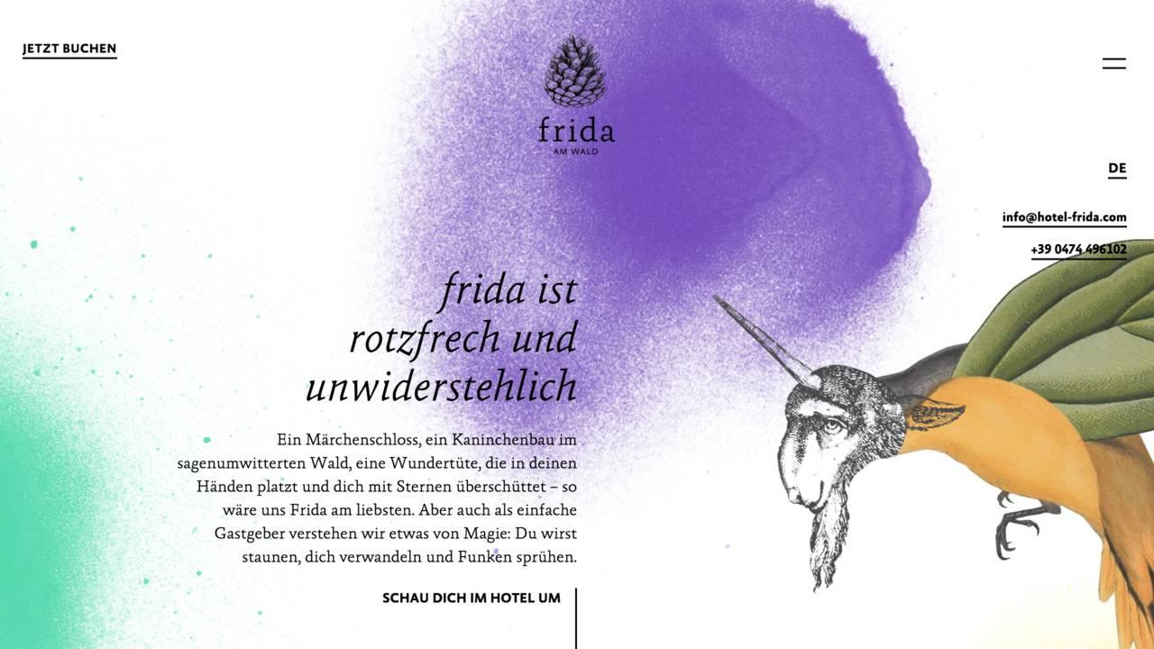 Frida am Wald