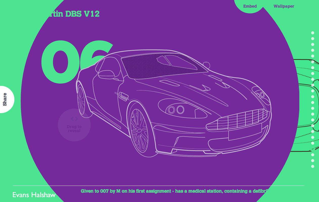 James Bond 007 Cars Evolution