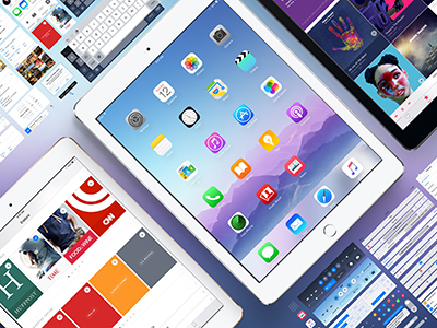 iOS 9 GUI iPad for Sketch